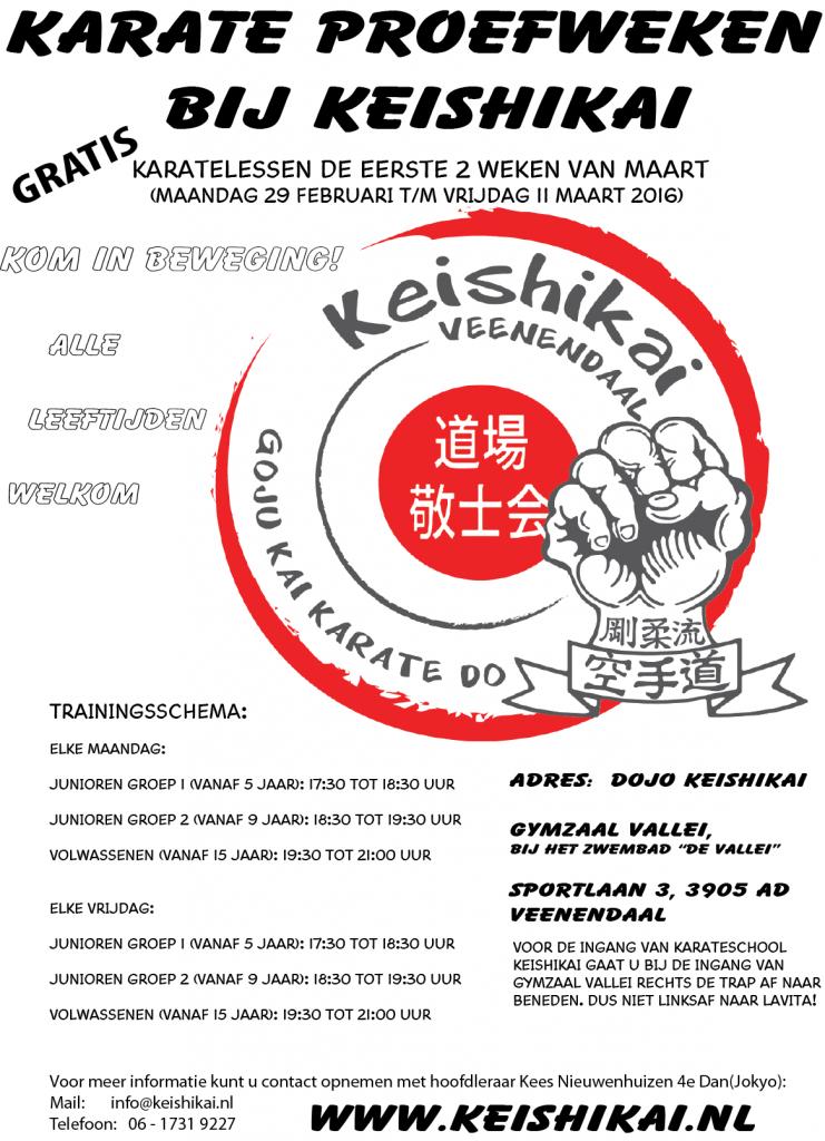 Karate Proefweken